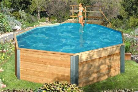 Piscine en bois impregnees piscine hors sol piscine for Piscine plastique